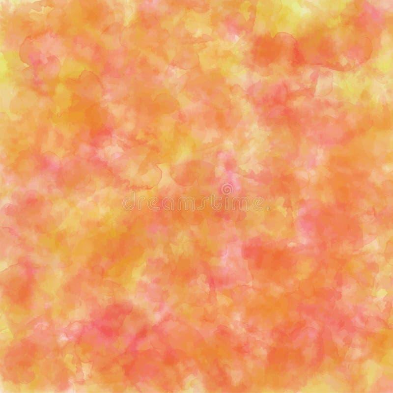 Αφηρημένο υπόβαθρο watercolor για το φθινόπωρο στοκ εικόνες