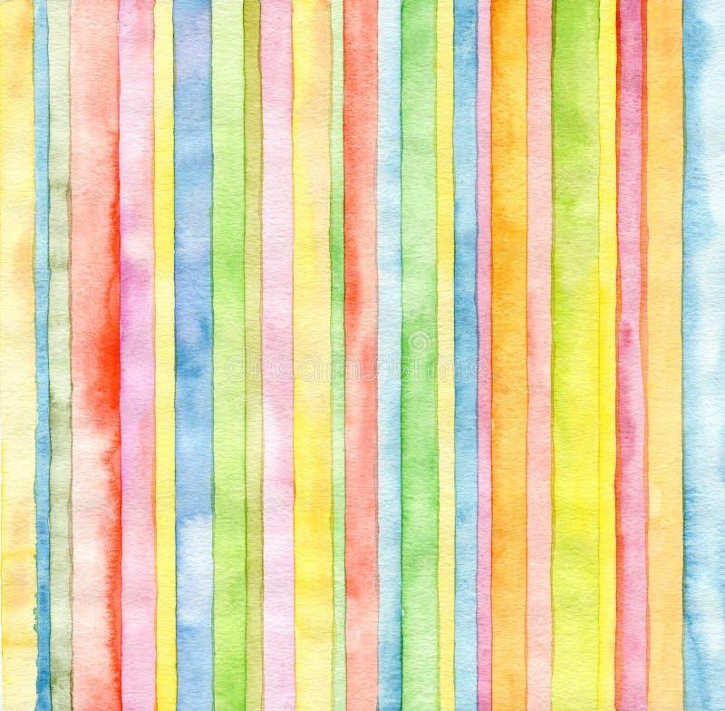 Αφηρημένο υπόβαθρο watercolor λουρίδων στοκ εικόνες
