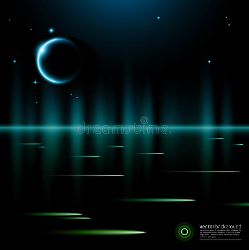 αφηρημένο φεγγάρι ανασκόπη& απεικόνιση αποθεμάτων