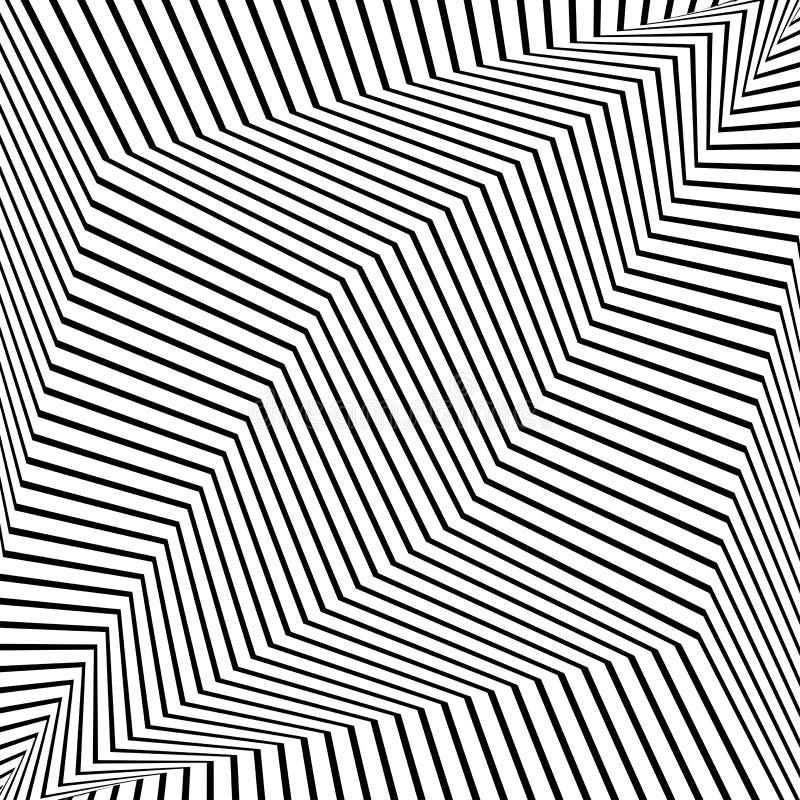 Αφηρημένο φουτουριστικό μονοχρωματικό ριγωτό υπόβαθρο r διανυσματική απεικόνιση