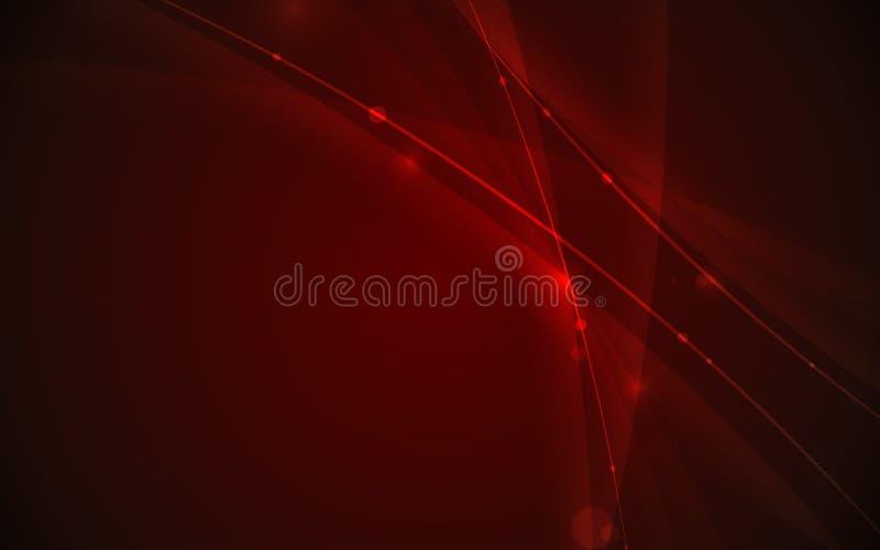 Αφηρημένο φουτουριστικό στοιχείο καμπυλών γραμμών στην κόκκινη έννοια τεχνολογίας υποβάθρου απεικόνιση αποθεμάτων