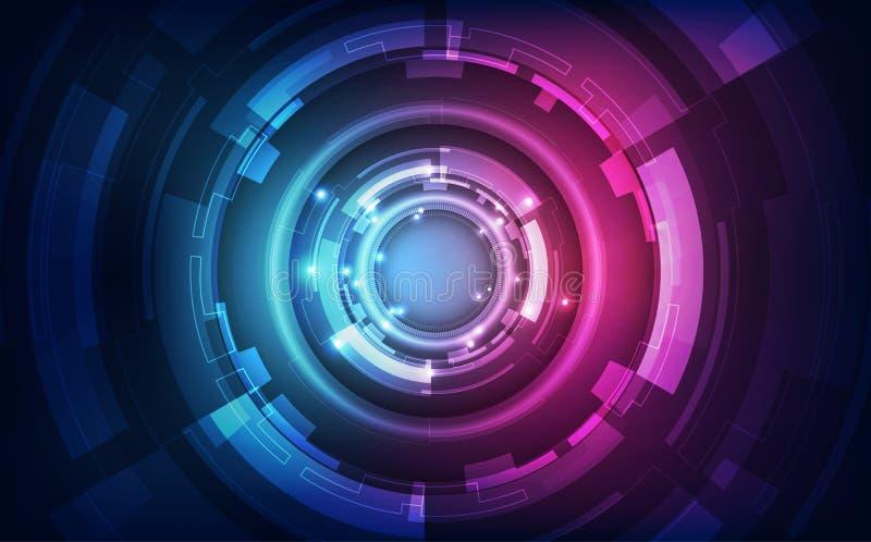 Αφηρημένο φουτουριστικό ψηφιακό υπόβαθρο τεχνολογίας διάνυσμα απεικόνισης διανυσματική απεικόνιση