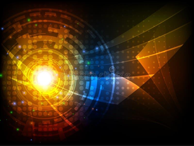 Αφηρημένο φουτουριστικό ψηφιακό υπόβαθρο τεχνολογίας επίσης corel σύρετε το διάνυσμα απεικόνισης ελεύθερη απεικόνιση δικαιώματος