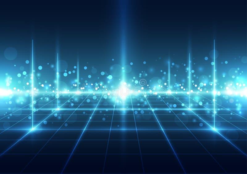 Αφηρημένο φουτουριστικό ψηφιακό υπόβαθρο τεχνολογίας διάνυσμα απεικόνισης ελεύθερη απεικόνιση δικαιώματος