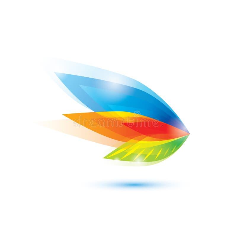 Αφηρημένο φτερό, σύμβολο φύλλων ελεύθερη απεικόνιση δικαιώματος