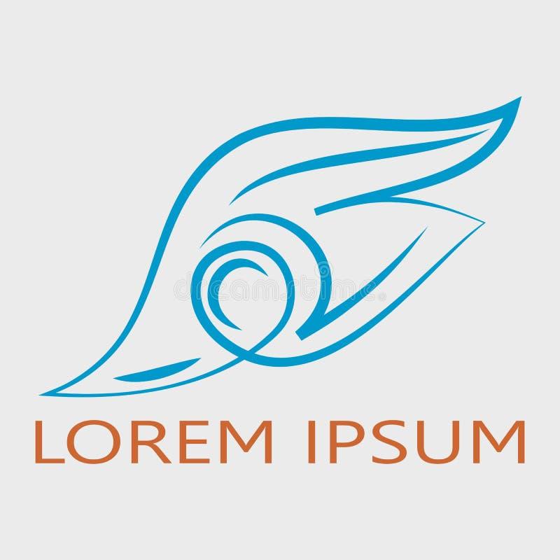 Αφηρημένο φτερό logotype διανυσματική απεικόνιση