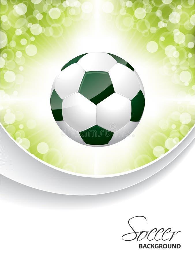 Αφηρημένο φυλλάδιο ποδοσφαίρου με τη σφαίρα ελεύθερη απεικόνιση δικαιώματος