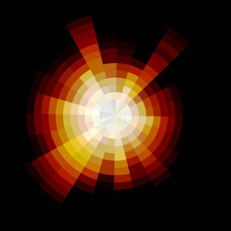 αφηρημένο φως ανασκόπησης Κενό διάστημα διάνυσμα ελεύθερη απεικόνιση δικαιώματος