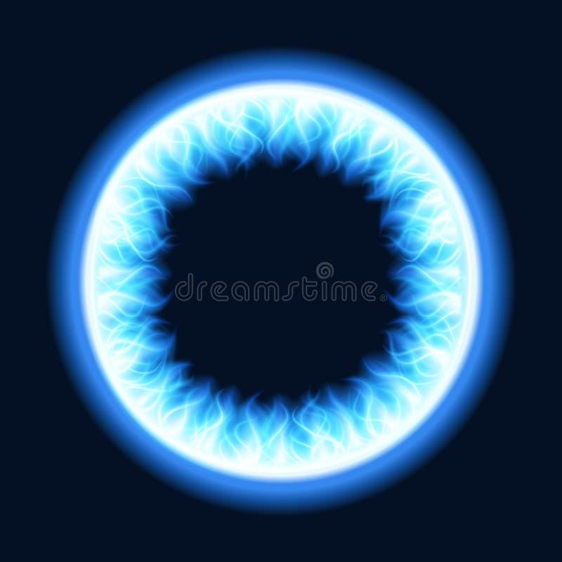 Αφηρημένο φως φλογών πυρκαγιάς στη μαύρη απεικόνιση υποβάθρου διανυσματική απεικόνιση