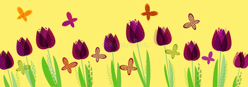 Αφηρημένο φωτεινό ελατήριο, floral σχέδιο διανυσματική απεικόνιση