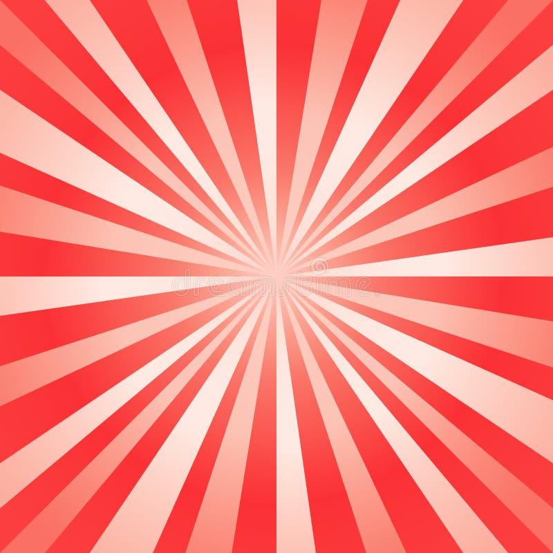 Αφηρημένο φωτεινό κόκκινο υπόβαθρο ακτίνων r απεικόνιση αποθεμάτων
