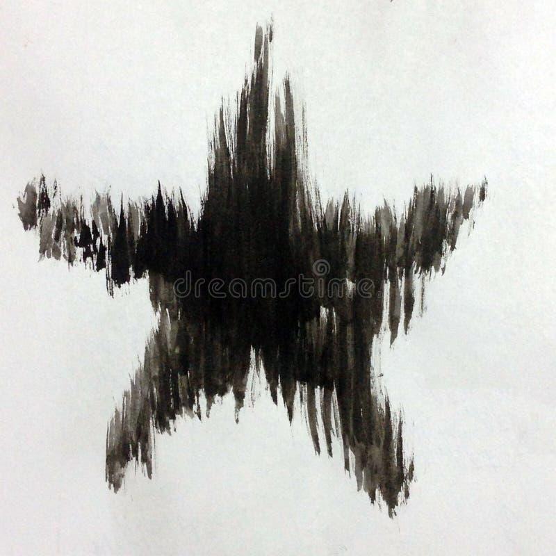 Αφηρημένο φωτεινό μαύρο άσπρο της υφής υπόβαθρο Watercolor χειροποίητο Αστέρι διανυσματική απεικόνιση