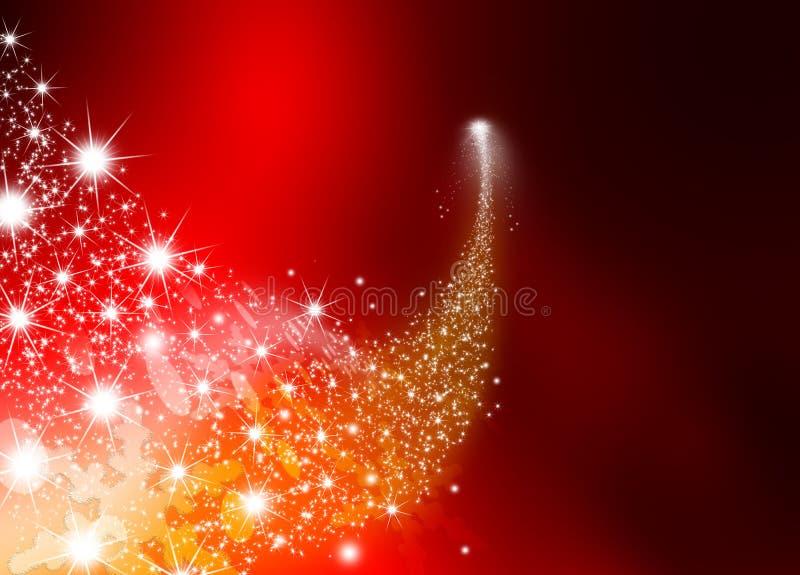 Αφηρημένο φωτεινό μειωμένο αστέρι - αστέρι πυροβολισμού με το αστράφτοντας αστέρι διανυσματική απεικόνιση