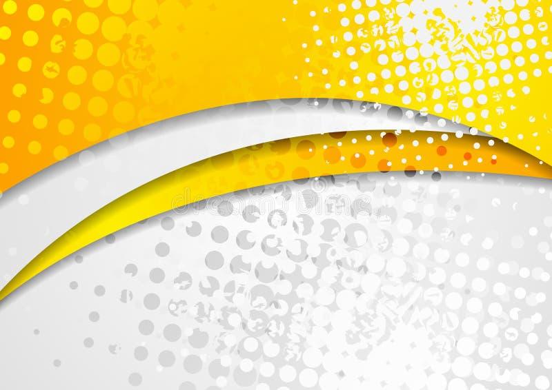 Αφηρημένο φωτεινό πορτοκαλί εταιρικό υπόβαθρο κυμάτων grunge απεικόνιση αποθεμάτων