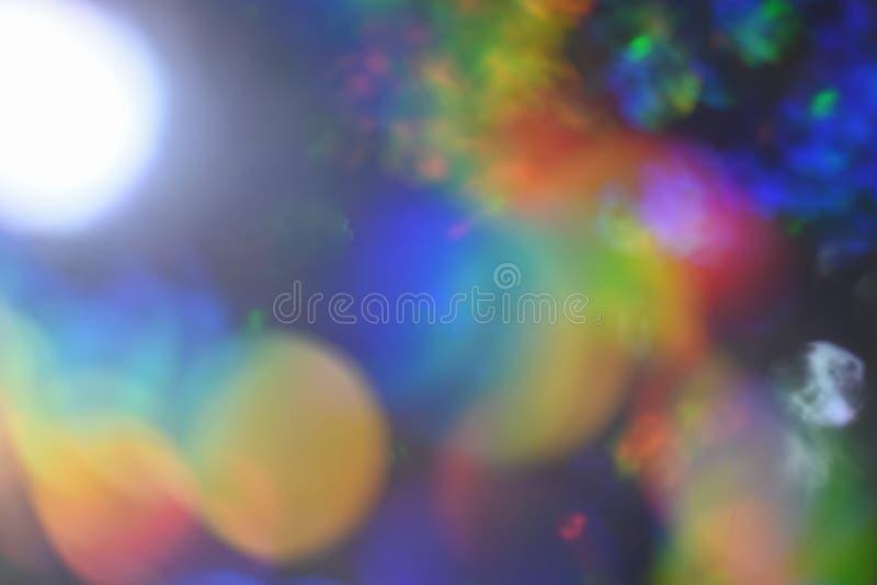 Αφηρημένο φόντο επικάλυψης διαρροής φωτός Rainbow bokeh λάμψη αποεστιασμένο φως στοκ φωτογραφία με δικαίωμα ελεύθερης χρήσης