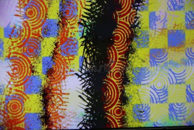 Αφηρημένο φόντο με στρογγυλά σχήματα σε διάφορα χρώματα στοκ φωτογραφία με δικαίωμα ελεύθερης χρήσης