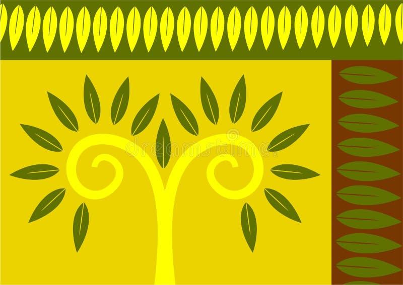 αφηρημένο φύλλο διανυσματική απεικόνιση