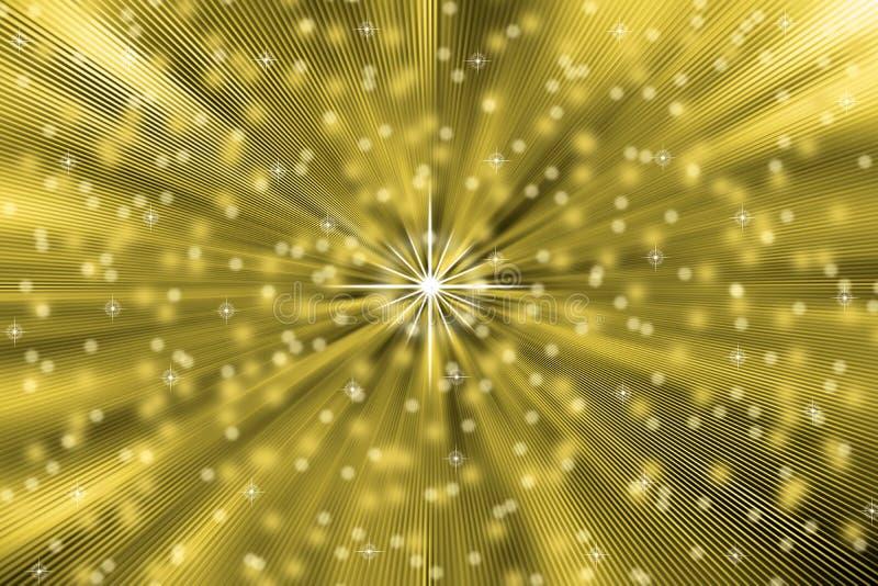 Αφηρημένο φύσημα αστεριών στο χρυσό υπόβαθρο ελεύθερη απεικόνιση δικαιώματος