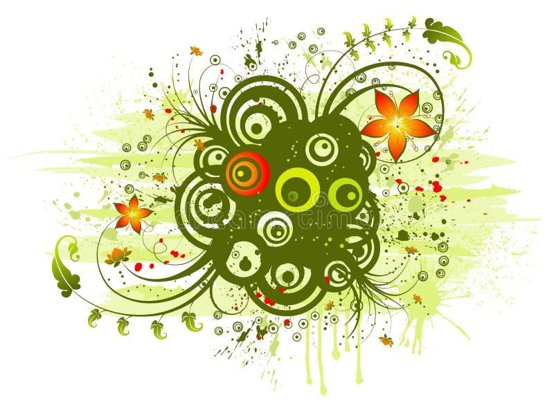 αφηρημένο χάος floral απεικόνιση αποθεμάτων