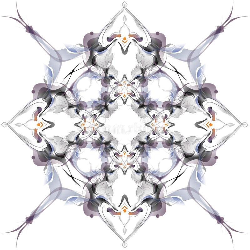 Αφηρημένο χειμερινό σχέδιο στο ύφος Nouveau τέχνης ελεύθερη απεικόνιση δικαιώματος
