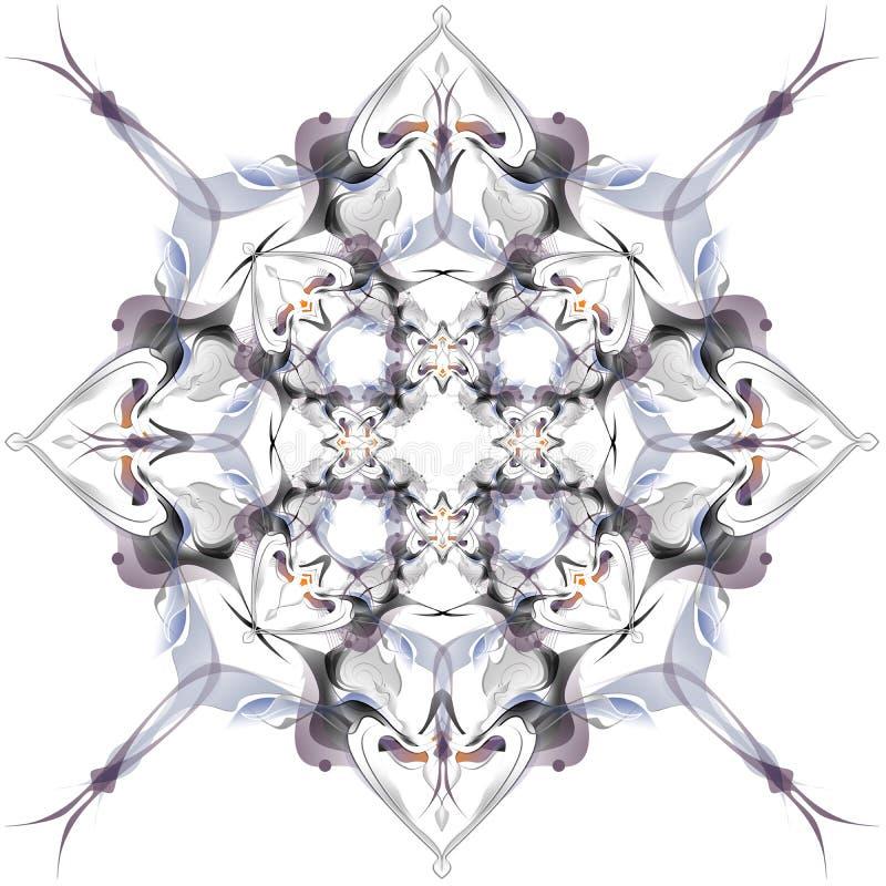 Αφηρημένο χειμερινό σχέδιο στο ύφος Nouveau τέχνης απεικόνιση αποθεμάτων