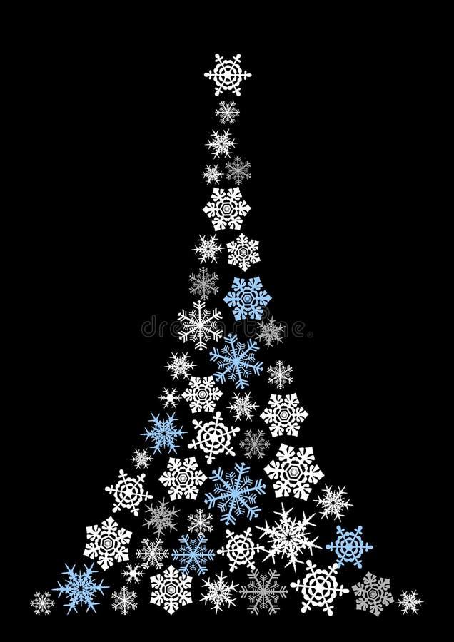 Αφηρημένο χριστουγεννιάτικο δέντρο - απλό σχέδιο ελεύθερη απεικόνιση δικαιώματος