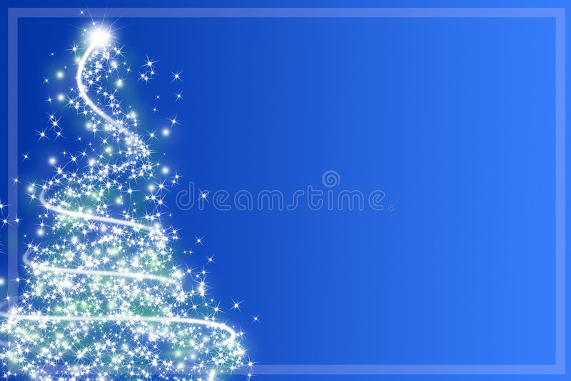 Αφηρημένο χριστουγεννιάτικο δέντρο ελεύθερη απεικόνιση δικαιώματος