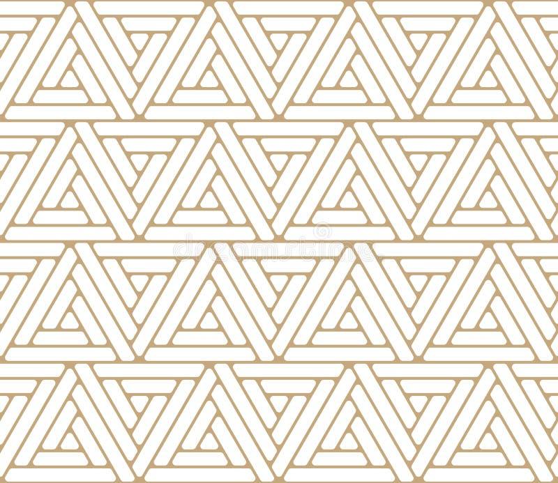 Αφηρημένο χρυσό γεωμετρικό σχέδιο τριγώνων σχεδίου τριγώνων διανυσματική απεικόνιση