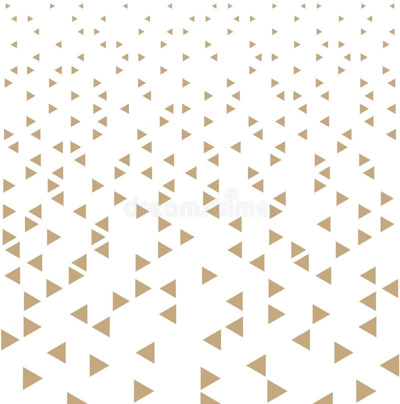 Αφηρημένο χρυσό γεωμετρικό σχέδιο τριγώνων τυπωμένων υλών σχεδίου μόδας hipster ελεύθερη απεικόνιση δικαιώματος