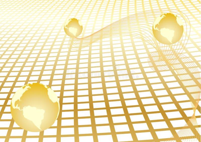 αφηρημένο χρυσό διάνυσμα σ&ph ελεύθερη απεικόνιση δικαιώματος