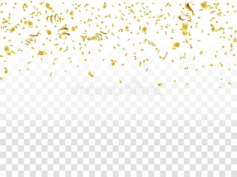Αφηρημένο χρυσό κομφετί εορτασμού υποβάθρου Διανυσματική ανασκόπηση απεικόνιση αποθεμάτων
