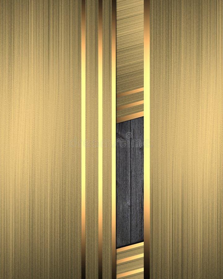 Αφηρημένο χρυσό υπόβαθρο με το ένθετο Πρότυπο για το σχέδιο διάστημα αντιγράφων για το φυλλάδιο αγγελιών ή την πρόσκληση ανακοίνω απεικόνιση αποθεμάτων