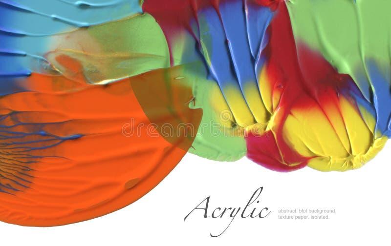Αφηρημένο χρωματισμένο λεκές υπόβαθρο watercolor σύσταση εγγράφου Isol στοκ εικόνα με δικαίωμα ελεύθερης χρήσης