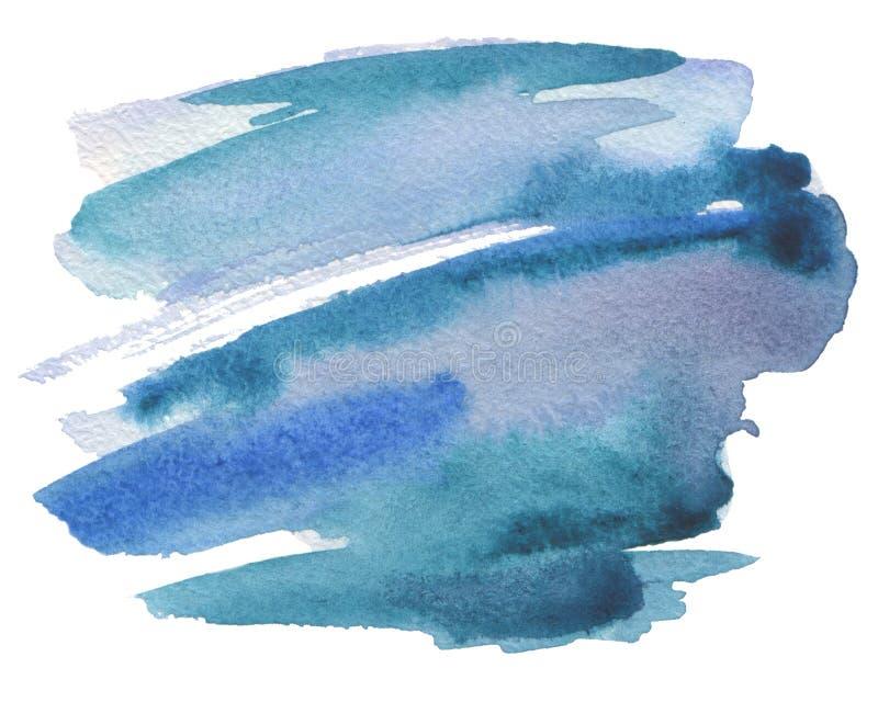 Αφηρημένο χρωματισμένο κτυπήματα υπόβαθρο βουρτσών watercolor Σύσταση PA διανυσματική απεικόνιση