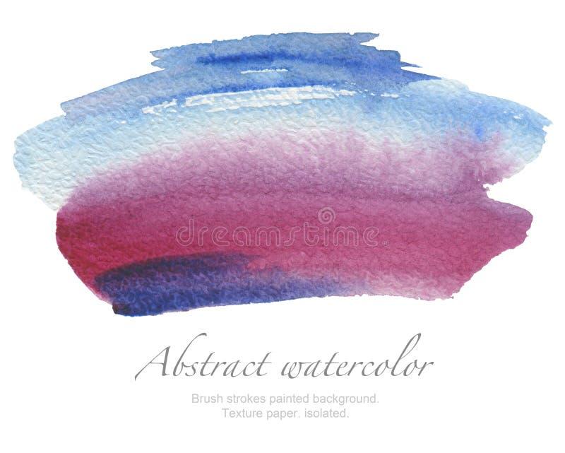 Αφηρημένο χρωματισμένο κτυπήματα υπόβαθρο βουρτσών watercolor Σύσταση PA στοκ εικόνα με δικαίωμα ελεύθερης χρήσης