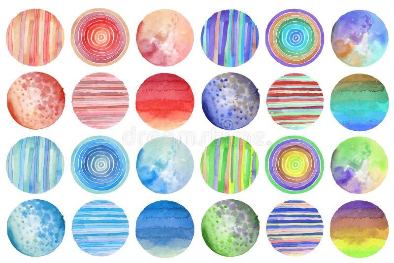 Αφηρημένο χρωματισμένο κύκλος υπόβαθρο watercolor σύσταση εγγράφου Είναι στοκ φωτογραφία με δικαίωμα ελεύθερης χρήσης
