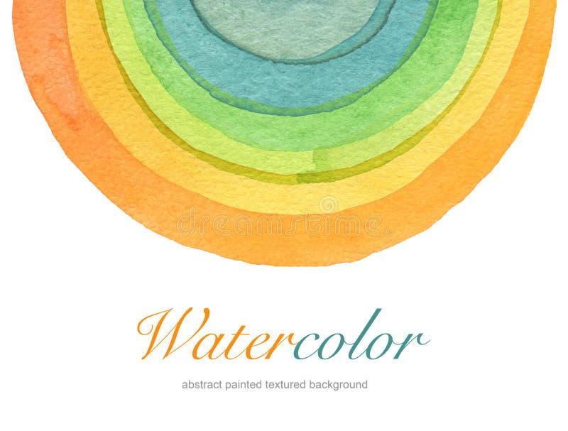 Αφηρημένο χρωματισμένο κύκλος υπόβαθρο watercolor Textu στοκ εικόνες με δικαίωμα ελεύθερης χρήσης