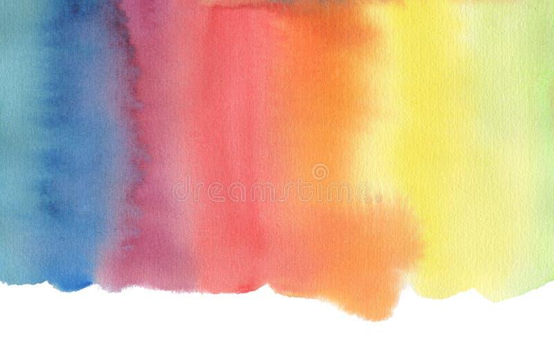Αφηρημένο χρωματισμένο λεκές υπόβαθρο watercolor απομονωμένος ελεύθερη απεικόνιση δικαιώματος
