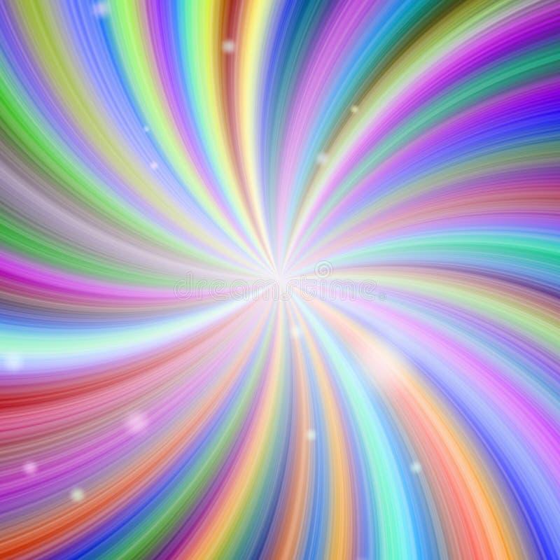 Αφηρημένο χρωματισμένο ουράνιο τόξο υπόβαθρο αστεριών διανυσματική απεικόνιση