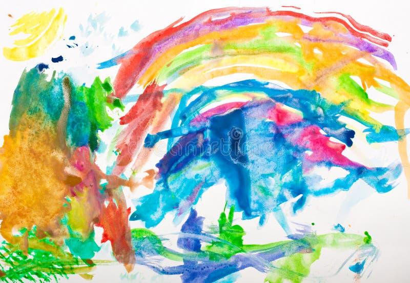 αφηρημένο χρωματισμένο χέρι w στοκ φωτογραφίες