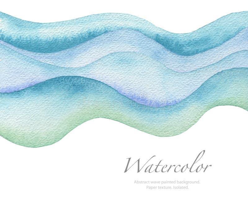 Αφηρημένο χρωματισμένο watercolor υπόβαθρο κυμάτων σύσταση εγγράφου στοκ φωτογραφίες