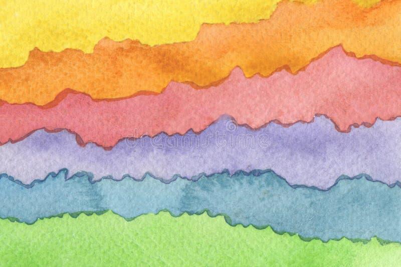 Αφηρημένο χρωματισμένο watercolor υπόβαθρο κυμάτων r r στοκ φωτογραφίες με δικαίωμα ελεύθερης χρήσης