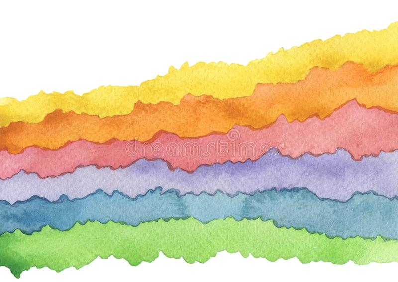 Αφηρημένο χρωματισμένο watercolor υπόβαθρο κυμάτων r r στοκ εικόνες με δικαίωμα ελεύθερης χρήσης