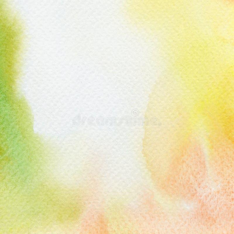 Αφηρημένο χρωματισμένο watercolor υπόβαθρο στοκ εικόνα με δικαίωμα ελεύθερης χρήσης