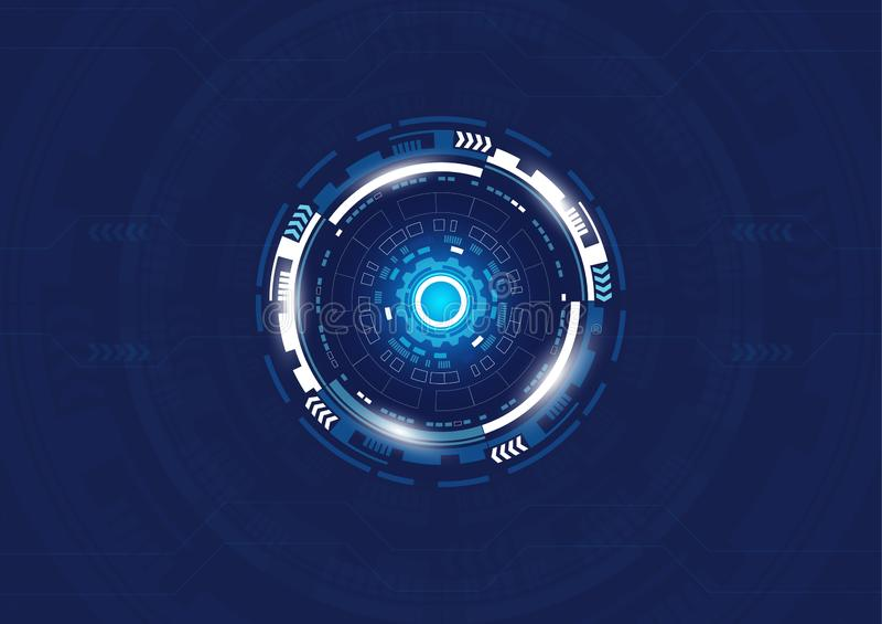 Αφηρημένο ψηφιακό υπόβαθρο τεχνολογίας, σχέδιο υψηλής τεχνολογίας απεικόνιση αποθεμάτων