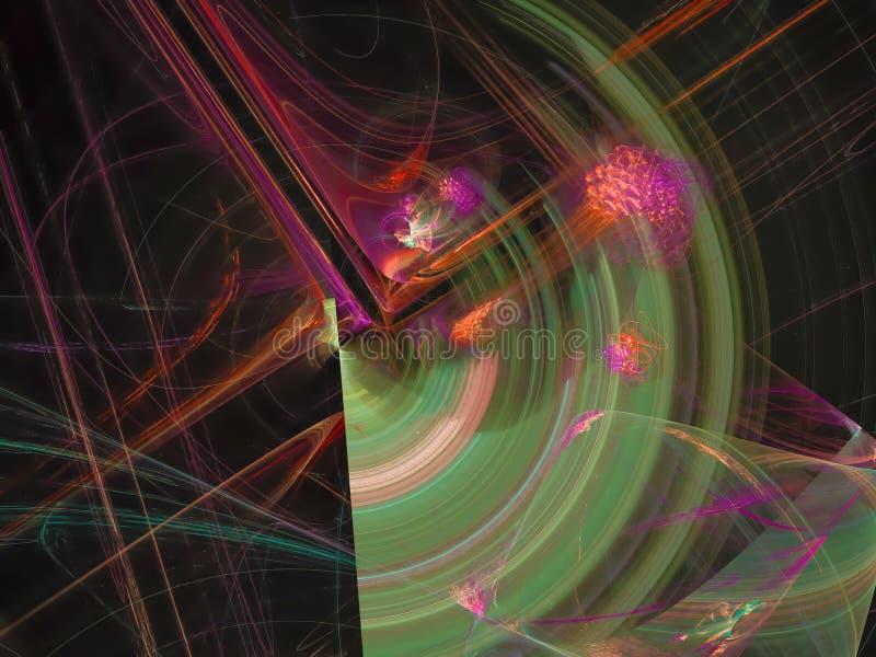 Αφηρημένο ψηφιακό fractal καίγεται το στιλπνό λαμπρό υπόβαθρο ακτίνων διαφάνειας, σχέδιο εμβλημάτων ελεύθερη απεικόνιση δικαιώματος