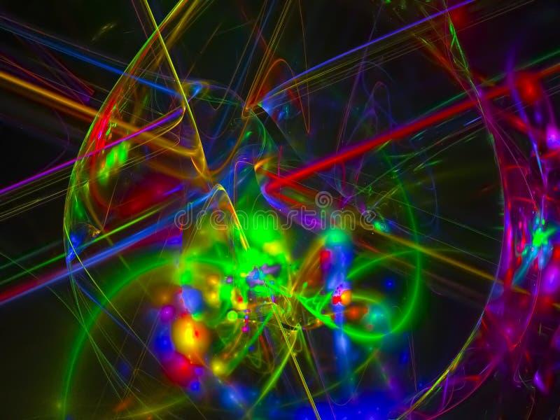 Αφηρημένο ψηφιακό fractal υπόβαθρο δύναμης disco ύφους σχεδίων επιστήμης γαλαξιών διακοσμητικό κυβερνητικό, όμορφο σχέδιο σχεδίου απεικόνιση αποθεμάτων