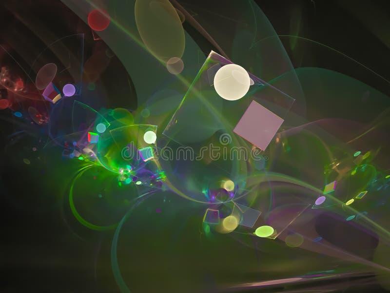 Αφηρημένο ψηφιακό fractal, ethereal σχέδιο ύφους σκηνικού φουτουριστικό, κόμμα στοκ φωτογραφία με δικαίωμα ελεύθερης χρήσης