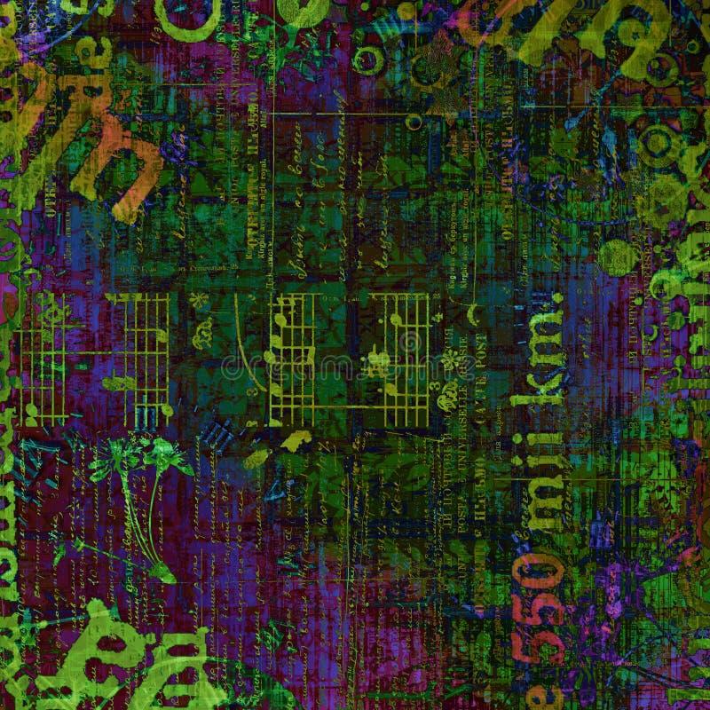Αφηρημένο όμορφο υπόβαθρο στο ύφος των μικτών μέσων διανυσματική απεικόνιση
