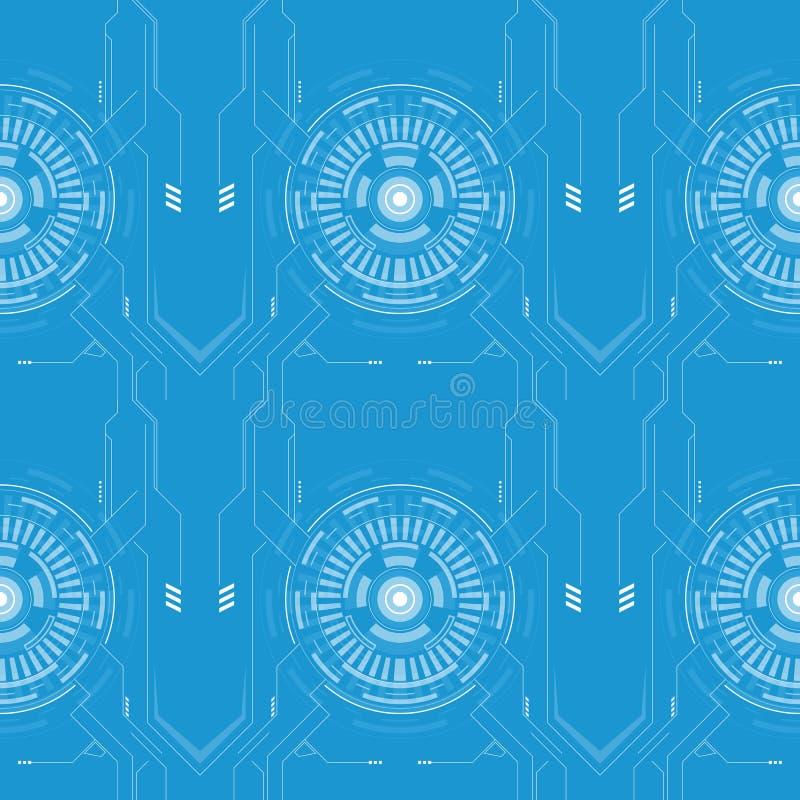 Αφηρημένο ύφος υψηλής τεχνολογίας σχεδίων γραμμών techno διανυσματική απεικόνιση